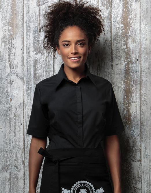 Bargear rövid ujjú női bár ing Bar 120 fekete