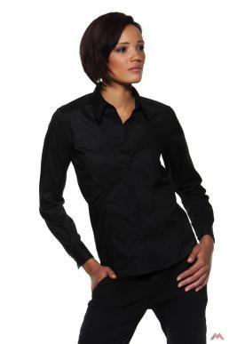 Bargear hosszú ujjú női bár ing Bar 120 fekete