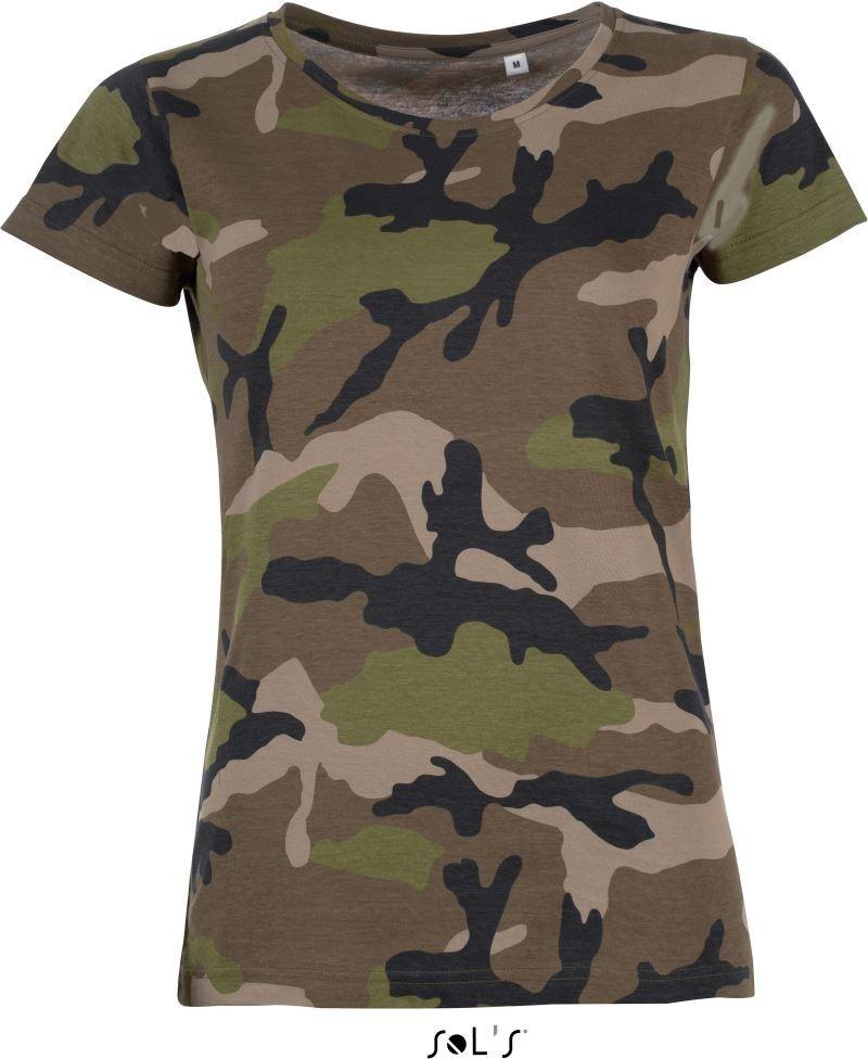 ea8bac8379 Sol's női póló Camouflage 150 barna