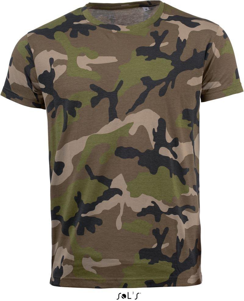47271326ef Sol's póló Camouflage 150 barna