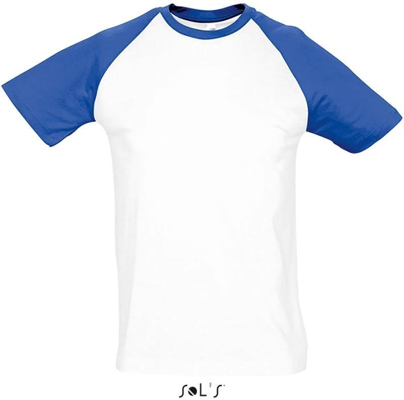 2b4fd13e5a Sol's fehér rövid ujjú póló kontrasztos színösszeállításban