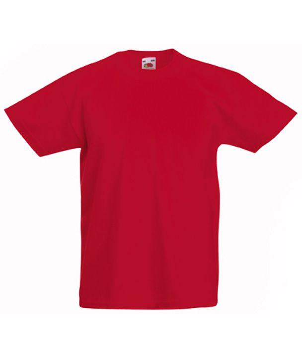 3ebf8a72ae Fruit gyerek póló Valueweight T 165 piros