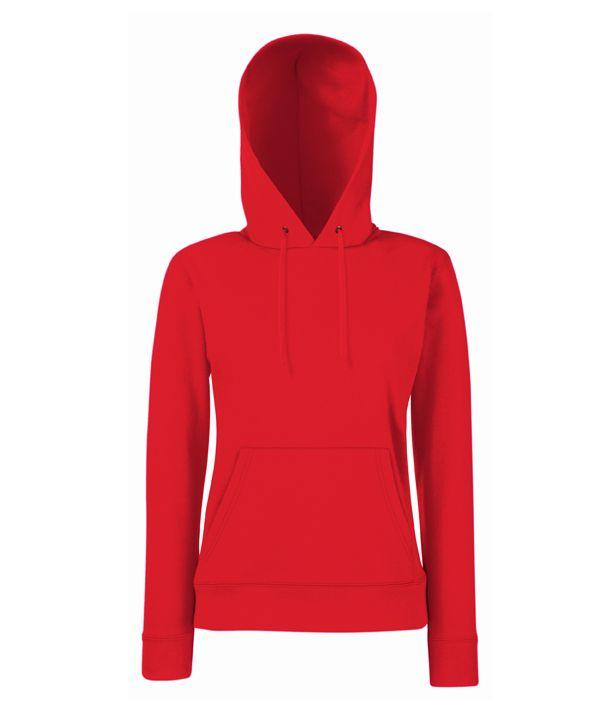 517541eaf3 Fruit női pulóver Classic Hooded 280 piros