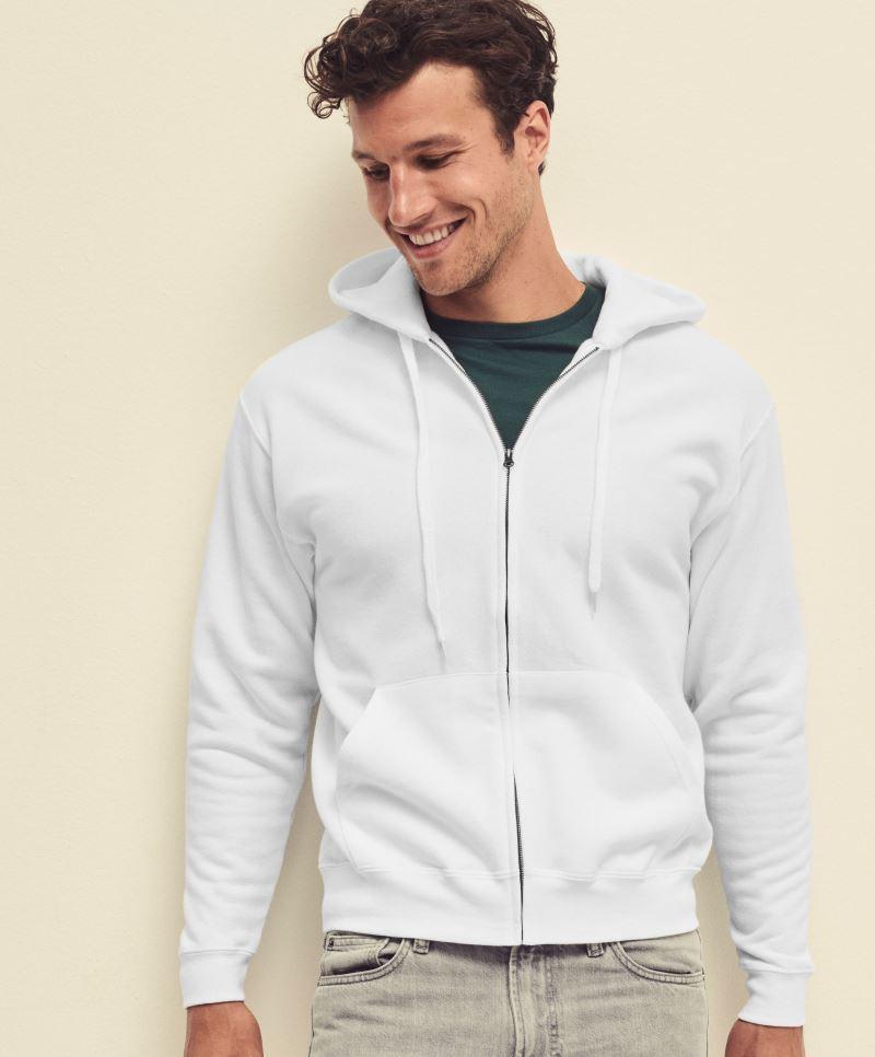 e4f34f5a22 Fruit pulóver Classic Hooded Jacket 280 fehér