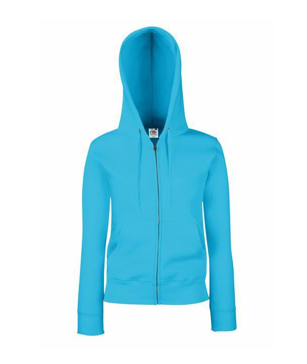 5944d378ac Fruit női pulóver Premium Hooded Jacket 280 azúrkék