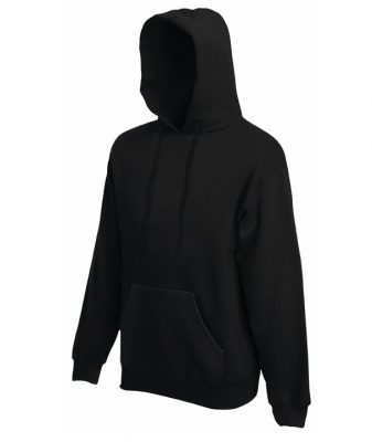 Fruit pulóver Classic Hooded 280 fekete