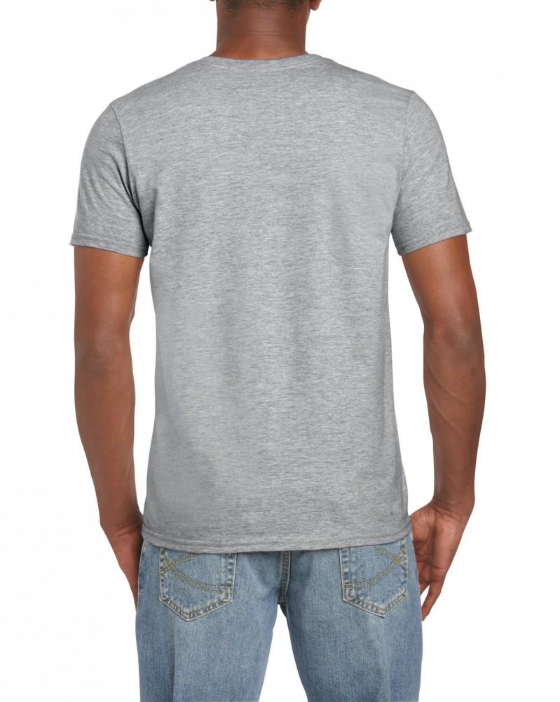 Gildan Ring Spun szürke póló 9bb70cc512