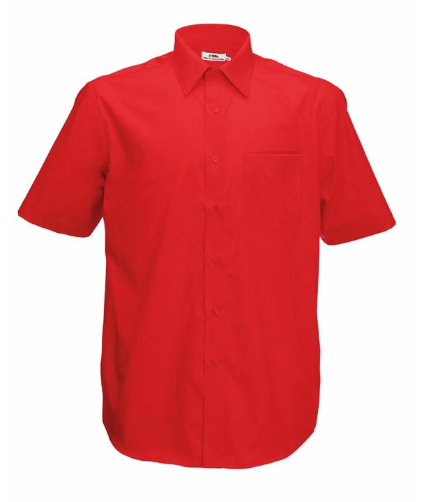 2e15da5ad0 Fruit rövid ujjú férfi ing Poplin 120 piros