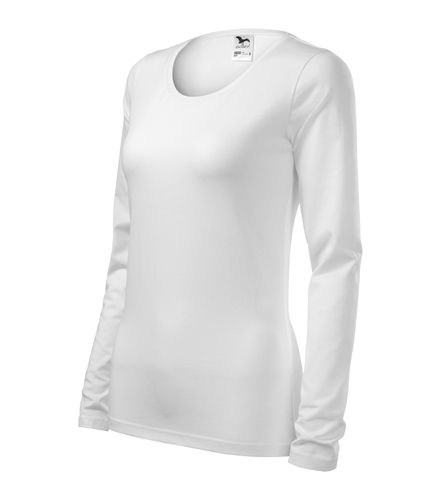 Adler hosszú ujjú női póló Slim 180 fehér 57b2b825b4
