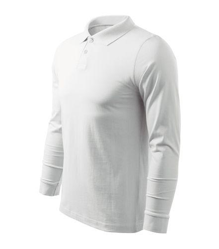 Adler hosszú ujjú galléros póló Single Jersey 180 fehér d0f1868971