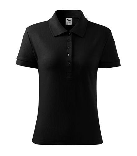Adler fekete galléros női póló 348438a0b8