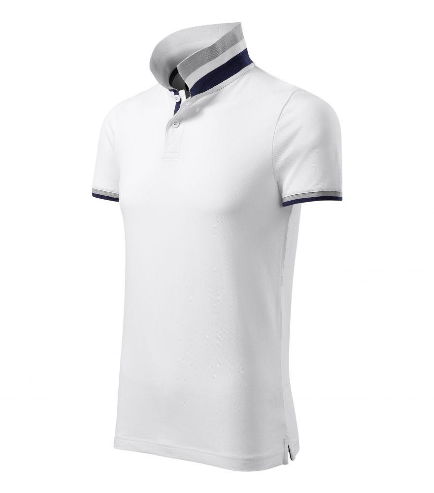 Malfini galléros póló Collar Up 215 fehér-szürke-kék 058ef348f1