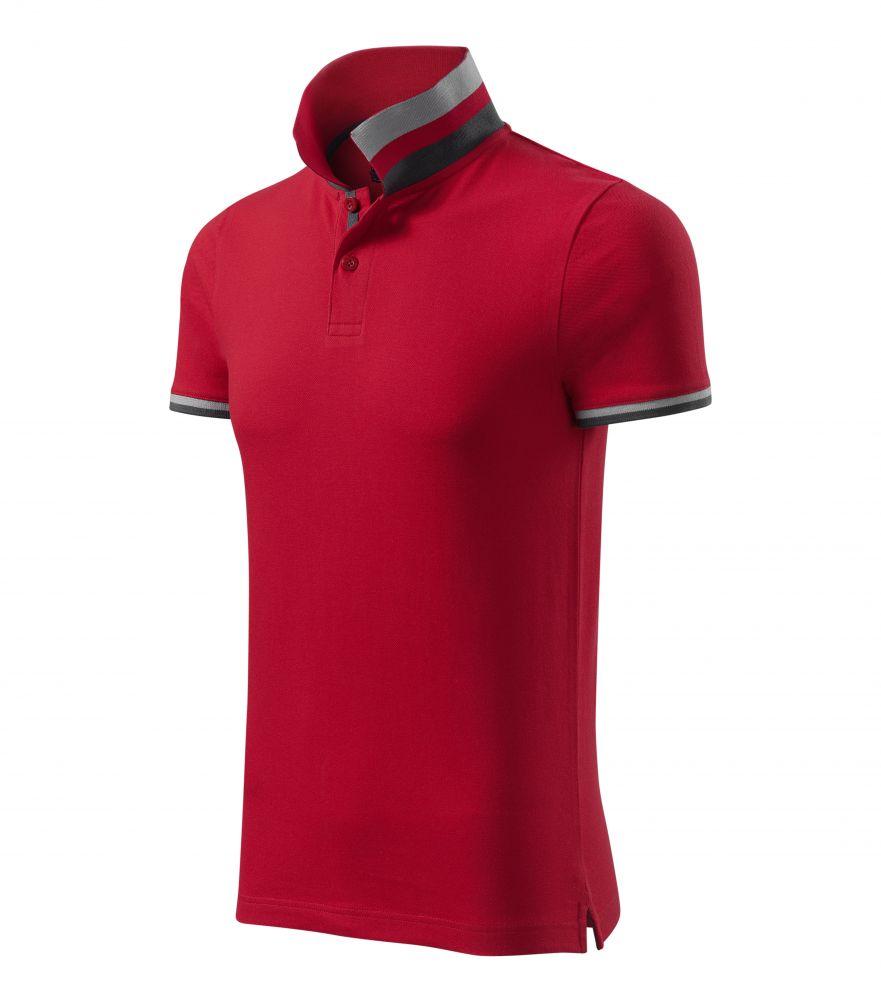Malfini galléros póló Collar Up 215 F1 piros-szürke-fekete 3ff1f66dd1