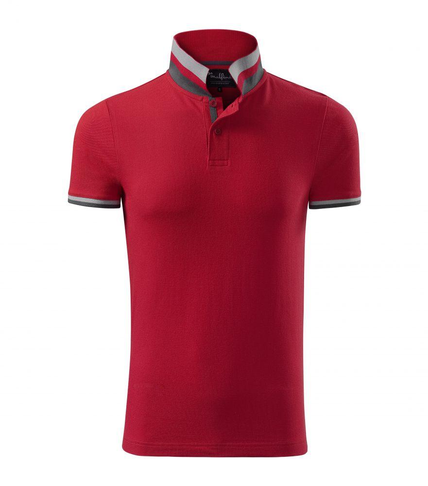 Malfini Collar Up piros galléros póló 616cea57a3