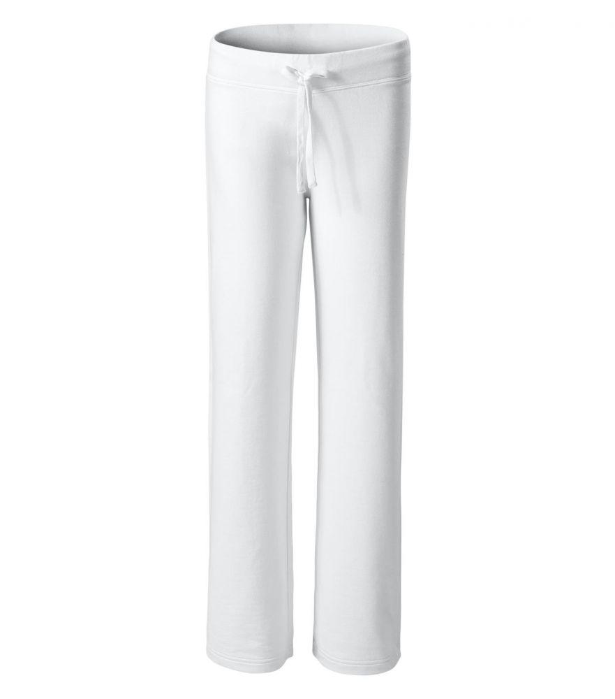 Női melegítő nadrág sportos, divatos fehér L Női szabadidő