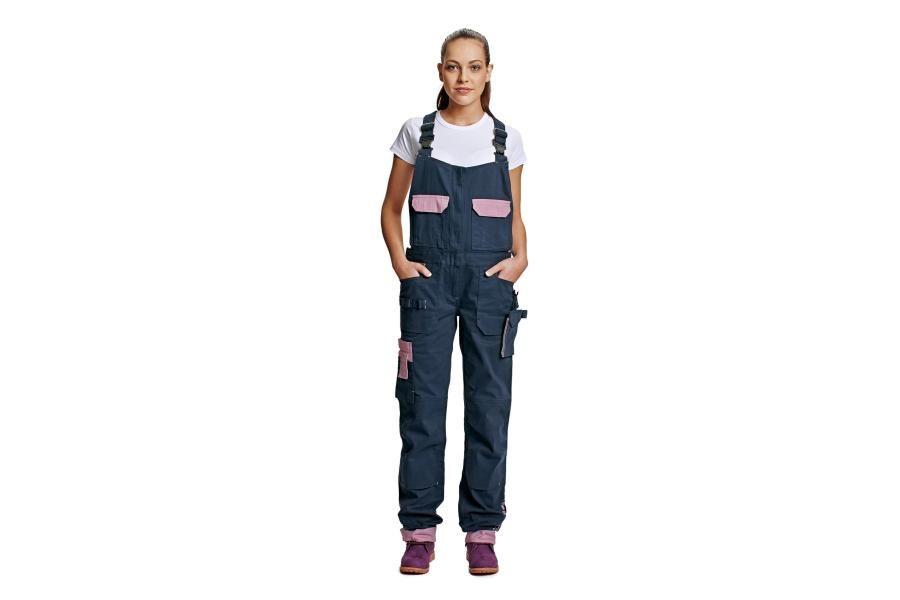 Yowie női kantáros nadrág sötétkék-világos lila fe716bb10c