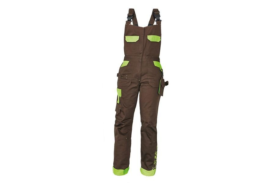 Yowie női kantáros nadrág barna-zöld 1e701c44b1