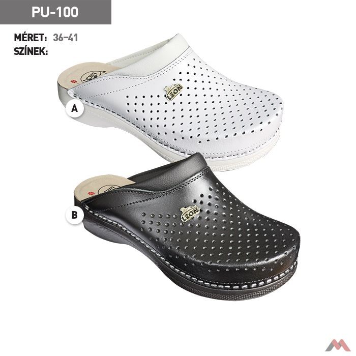 Comfort Step női klumpa Premium PU-100 fehér 3bd3c50a61
