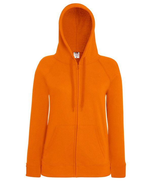 Fruit női pulóver Lightweight Hooded Sweat Jacket 240 narancssárga 3302b2d7d6