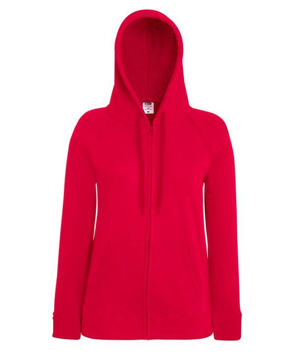 Fruit női pulóver Lightweight Hooded Sweat Jacket 240 piros 9272ba027f