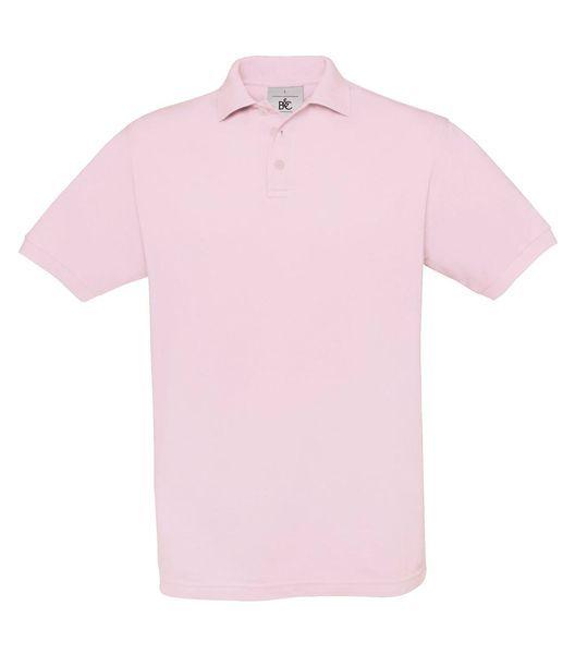 14a196bbab B&C galléros férfi piqué póló Safran 180 rózsaszín