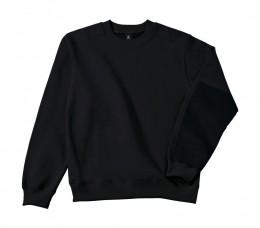3afa8b33e7 B&C Pro fekete pamut férfi pulóver
