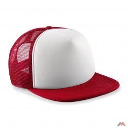Beechfield gyerek baseball sapka Vintage Snapback Trucker 5P piros-fehér 53623f3dca
