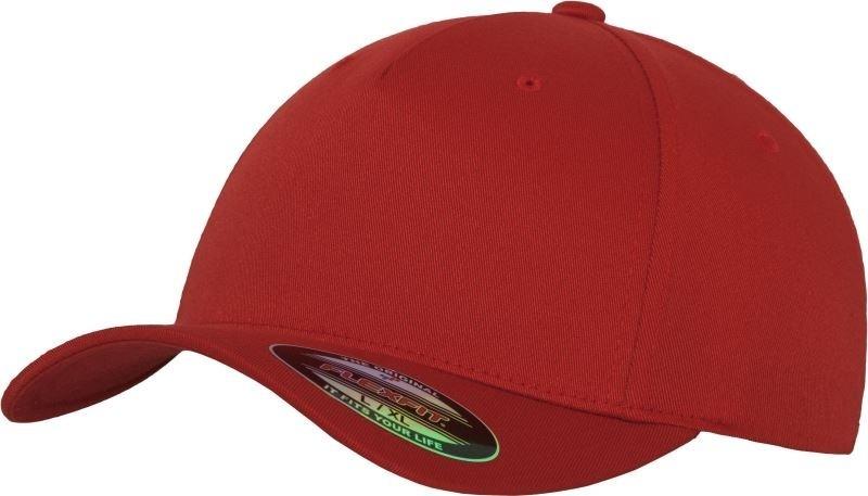 Flexfit baseball sapka Fitted 5P piros 8fde678bc3