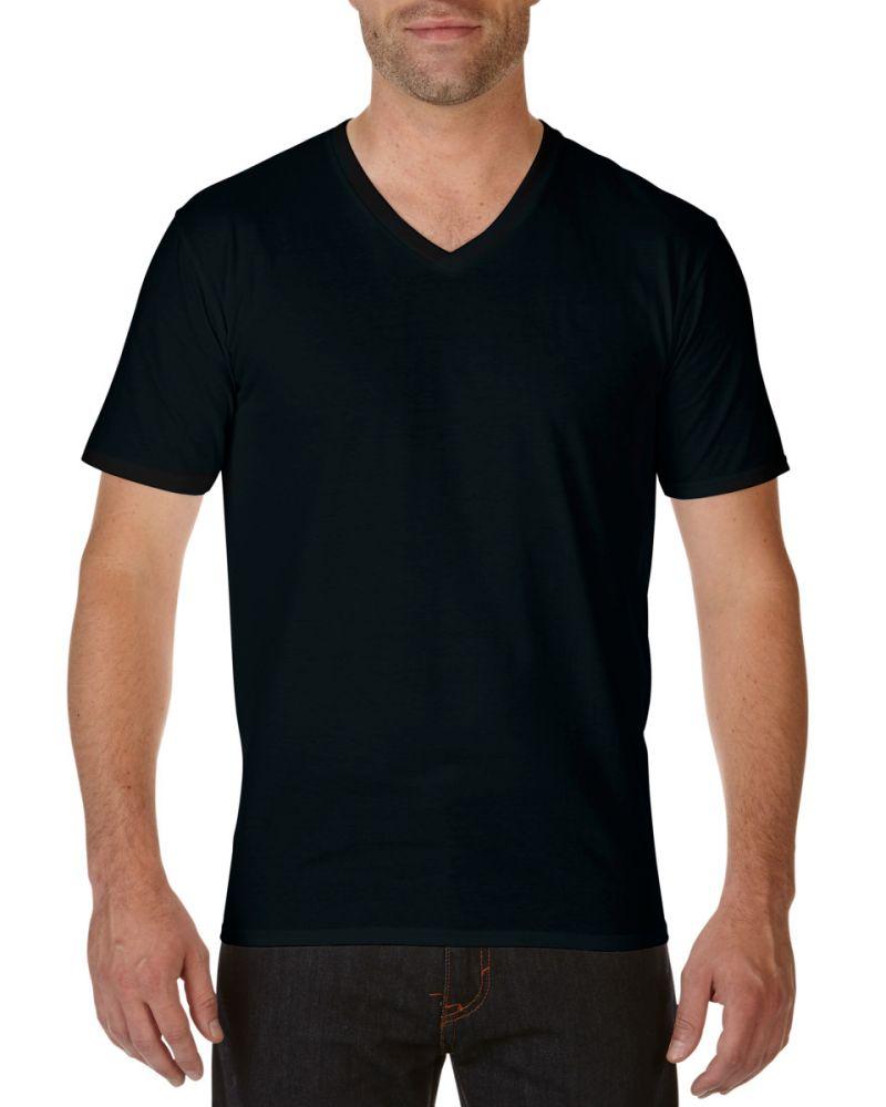 Gildan póló Premium Cotton V-nyakú 185 fekete da9ce91c93