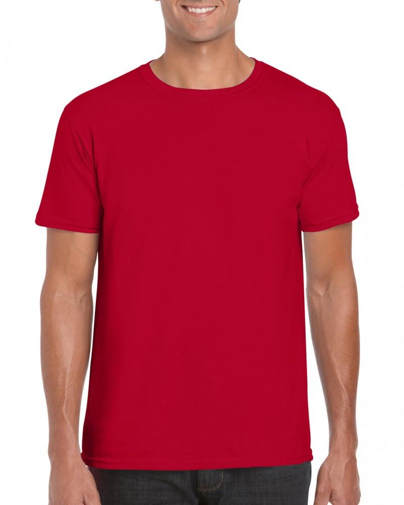Gildan póló Ring Spun 153 cherry red fa404bbe17