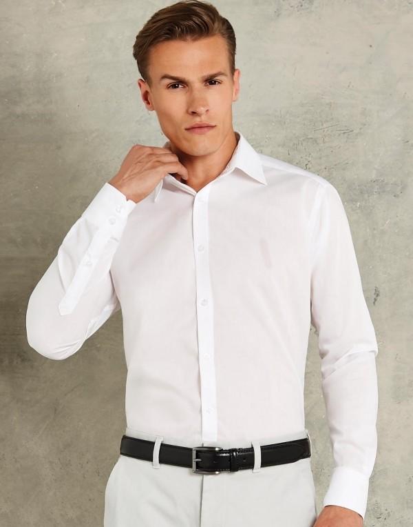 fd716ffecf Kustom Kit hosszú ujjú ing Slim Fit Business LS 105 fehér