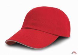 Result baseball sapka Brushed 5P piros-natúr 397fda2252