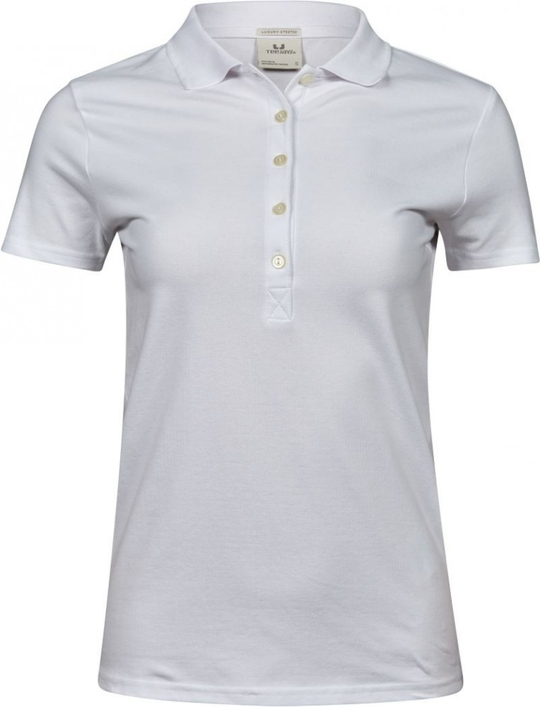 ad33df0256bf Tee Jays galléros női póló Luxury Stretch 215 fehér