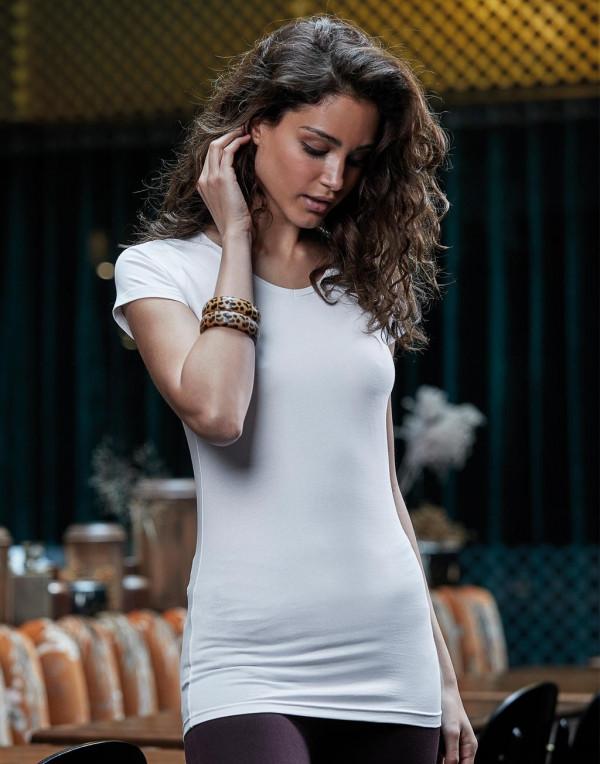fdd3a1e5e2 Tee Jays női póló Stretch 175 fehér