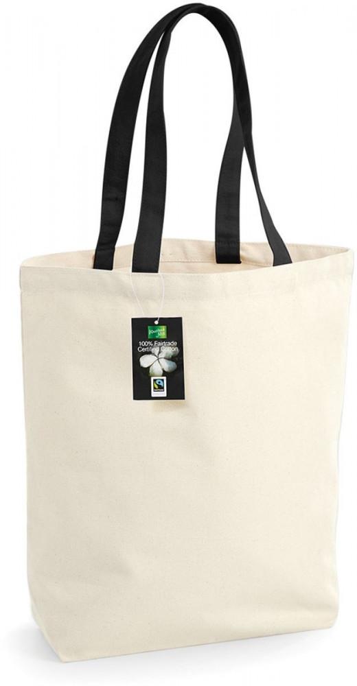 9ce6525b689f Westford Mill bevásárló táska Fairtrade Camden 410 natúr-fekete