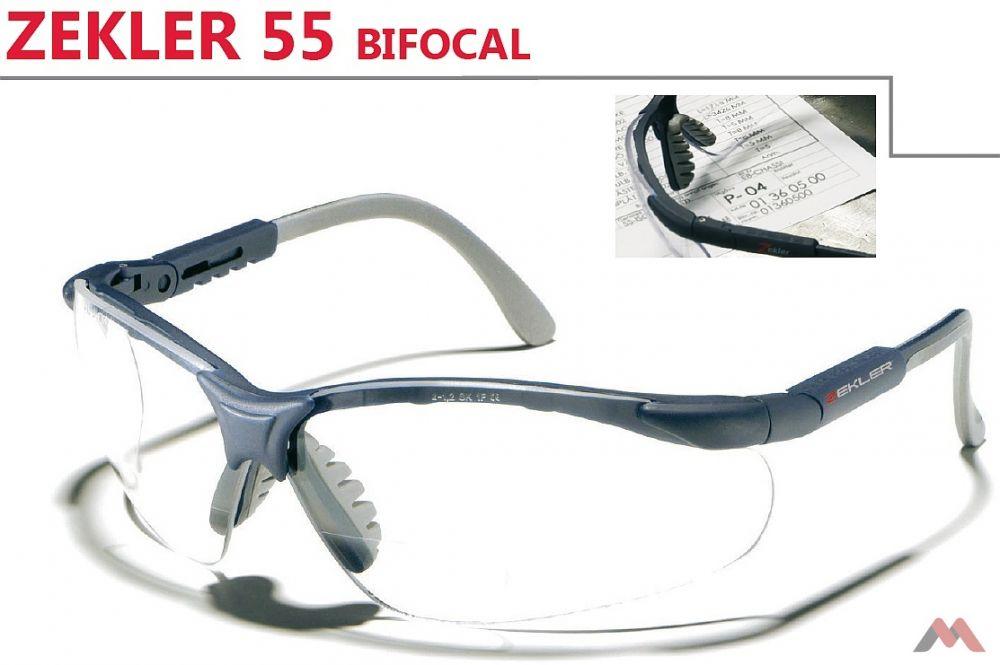 Zekler munkavédelmi szemüveg 55 Bifocal víztiszta 175b6d3511