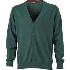 James & Nicholson Men's V-Neck Cardigan