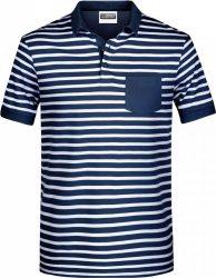 James & Nicholson Men's Piqué Polo striped