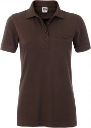 James & Nicholson Ladies Workwear Polo Pocket