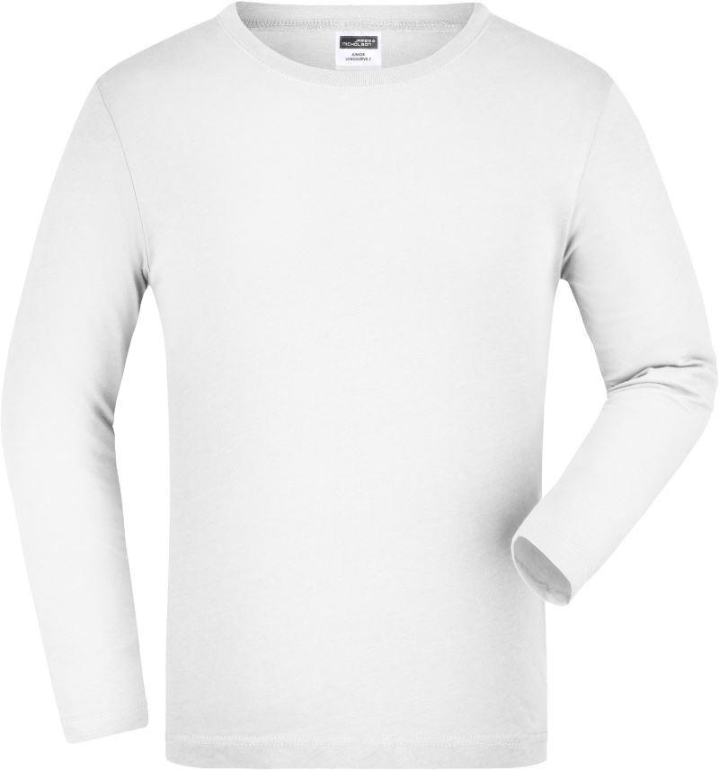32a125e1f9 James&Nicholson hosszú ujjú gyerek póló 150 fehér
