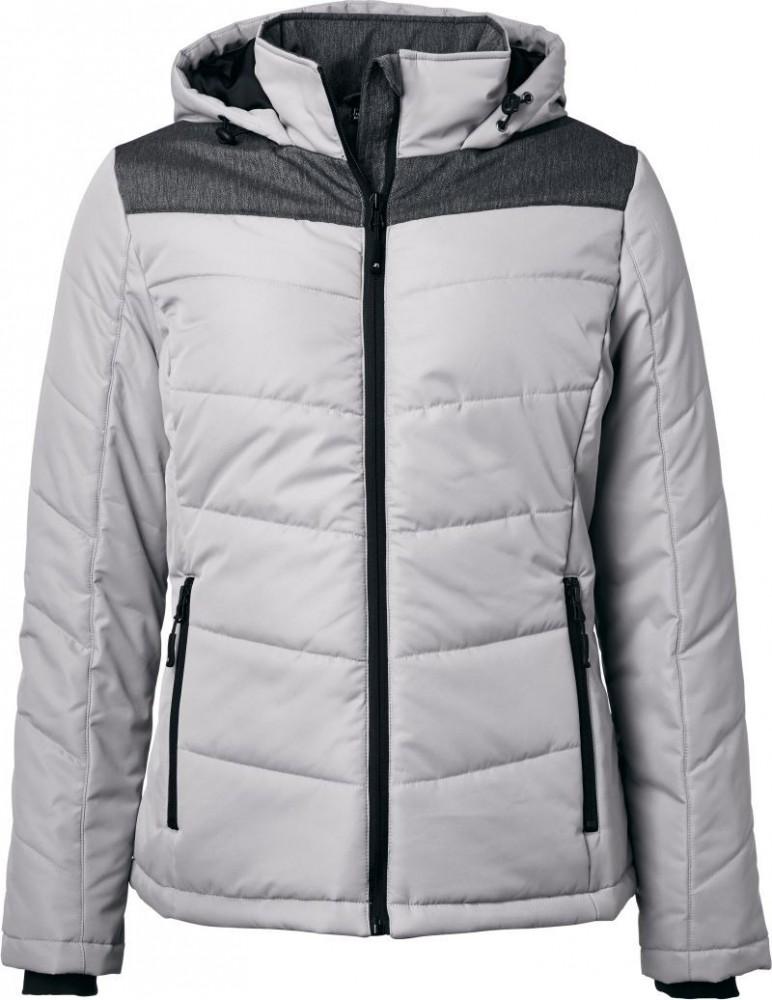 56ec578dd5 James&Nicholson bélelt női kabát Winter Jacket ezüst-melírozott szürke