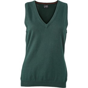9b7ba3d62f James & Nicholson Ladies' V-Neck sleeveless Pullover