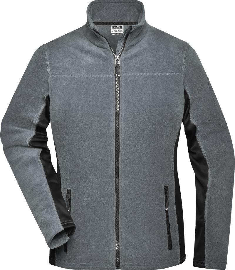 James Nicholson női polár pulóver Workwear 280 grafit-fekete de785c1b33