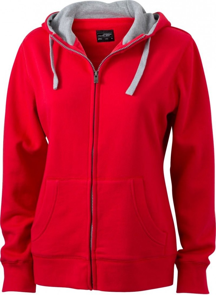 a677a191f6 James&Nicholson női pulóver Lifestyle 280 piros-melírozott szürke