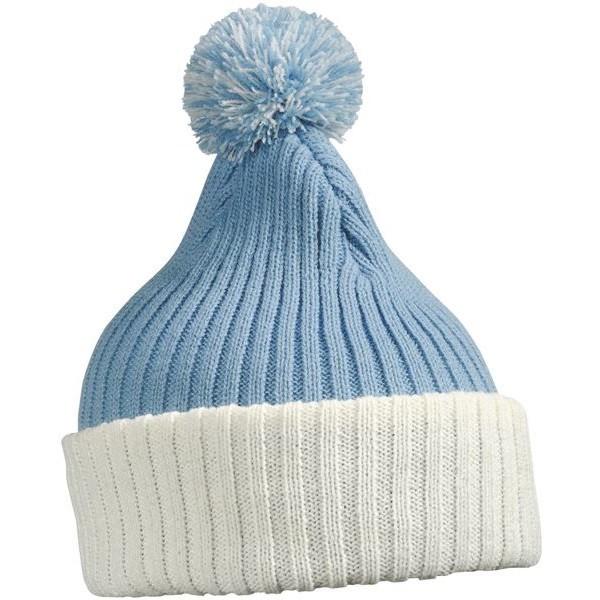 Myrtle Beach sapka Knitted Cap with Pompon világoskék-törtfehér 9d65798c3e