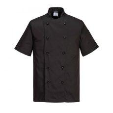 Portwest szakácskabát Kent fekete
