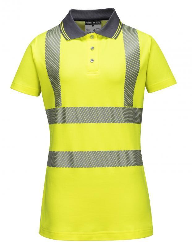 648e2aecda Portwest jól láthatósági sárga női galléros pólóing