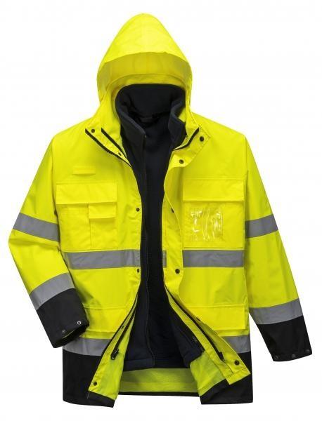 Portwest jól láthatósági kabát Hi-Vis Lite 3 az 1-ben sárga-tengerkék 55af9b69f7