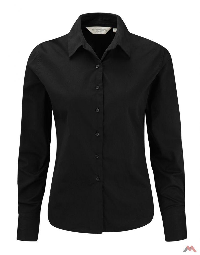 0dc5d8ef80 Russell hosszú ujjú női ing Classic Twill Shirt LS 130 fekete