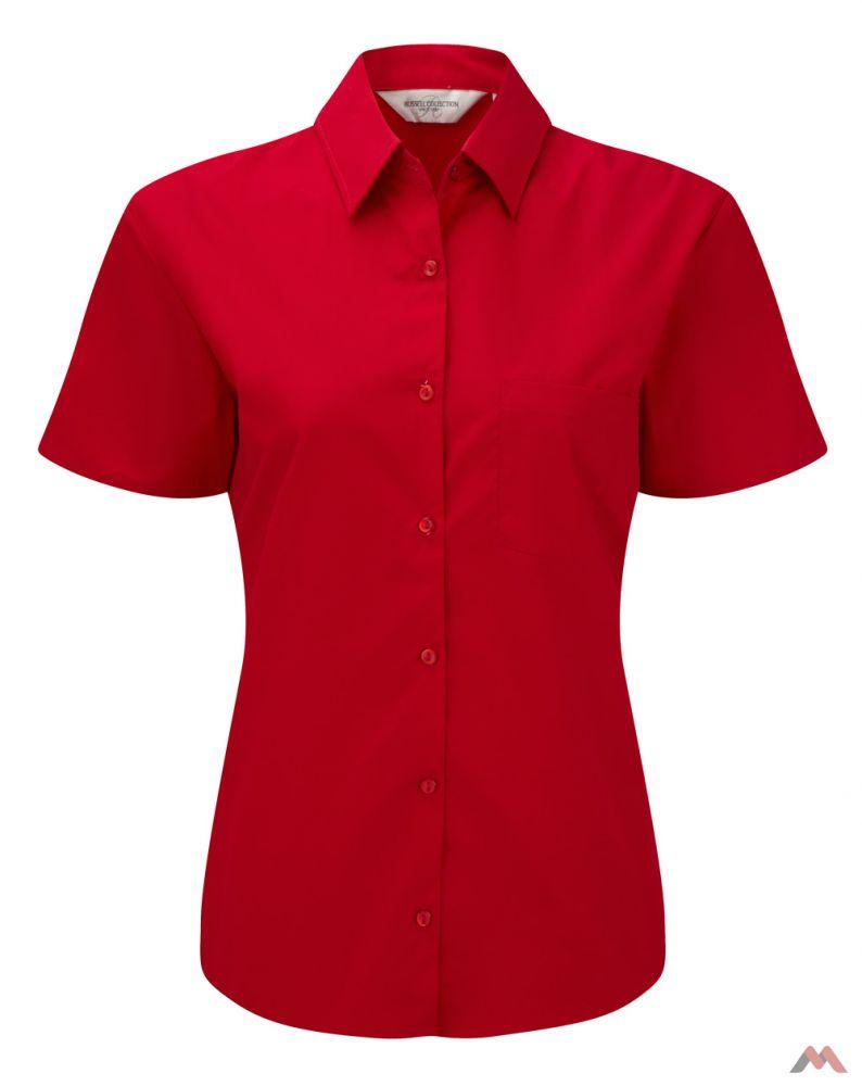 91ec79671c Russell rövid ujjú női ing Cotton Poplin Blouse 125 piros